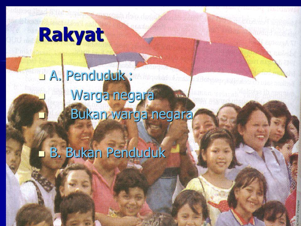 Rakyat A.Penduduk : A.