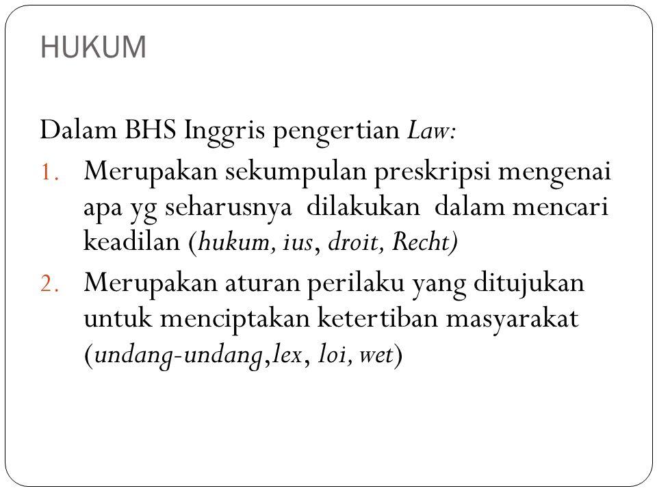 Adagium HUKUM 1.Fiat jutitia ruat caelum : hukum harus ditegakkan walau langit runtuh.