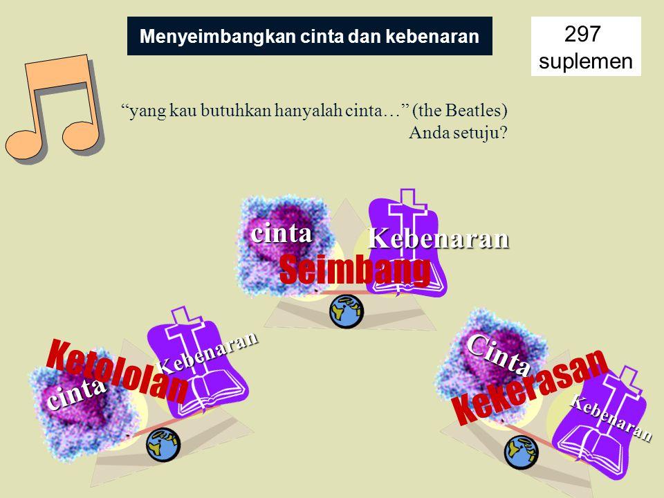 Menyeimbangkan cinta dan kebenaran 297 suplemen yang kau butuhkan hanyalah cinta… (the Beatles) Anda setuju.