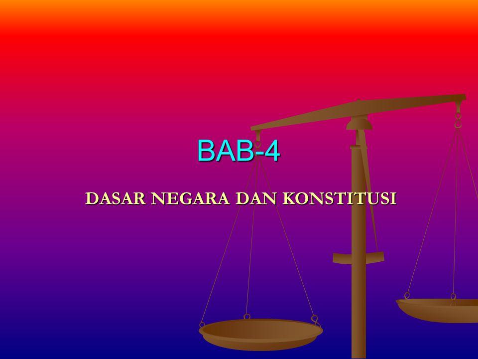 Substansi KONSTITUSI INDONESIA DASAR NEGARA Berhubungan Periodisasi Konstitusi yang pernah berlaku di Indonesia STUDI KASUS : Telaah Kritis Terhadap Amandemen UUD 1945 KLIK VIDEO DISINI !