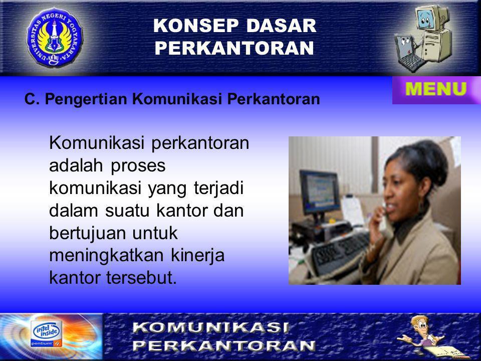 KONSEP DASAR PERKANTORAN D.Alasan Berkomunikasi 1.