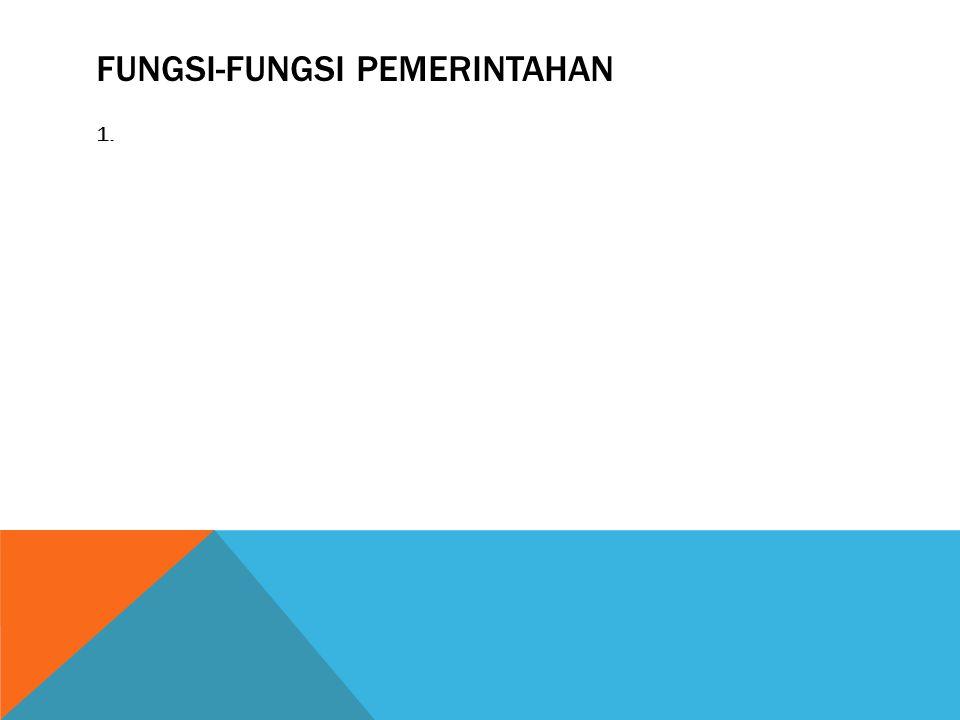 FUNGSI-FUNGSI PEMERINTAHAN 1.