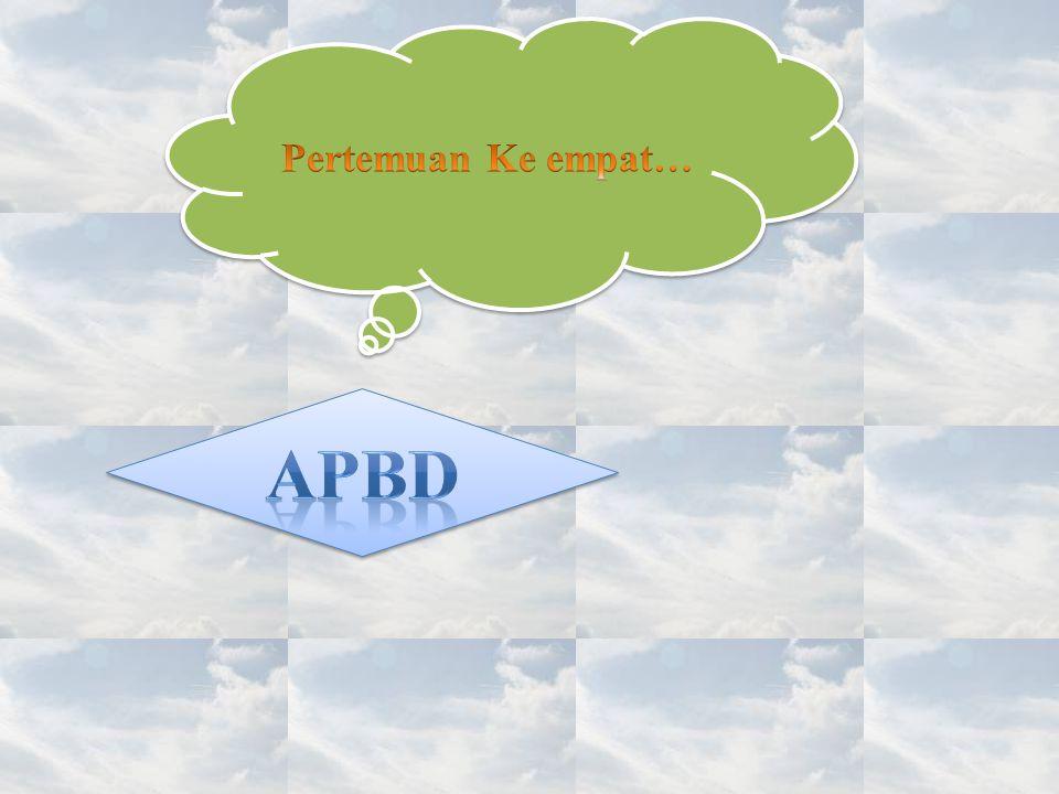 APBD terdiri dari : a.Anggaran pendapatan, terdiri dari : 1).