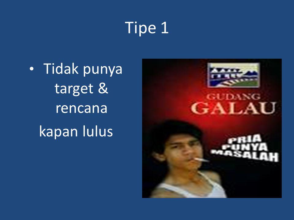 Tipe 1 Tidak punya target & rencana kapan lulus