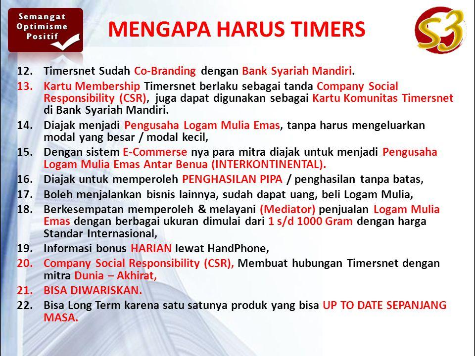 12.Timersnet Sudah Co-Branding dengan Bank Syariah Mandiri.