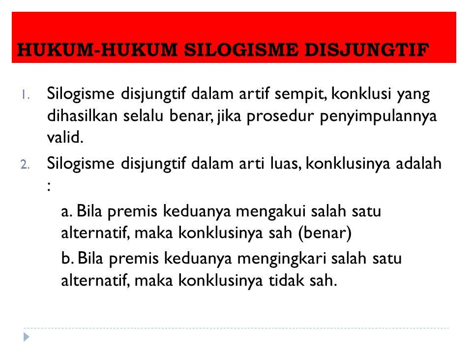 HUKUM-HUKUM SILOGISME DISJUNGTIF 1.