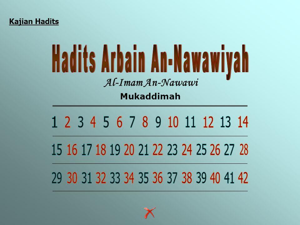 Kajian Hadits Al-Imam An-Nawawi Mukaddimah Menu