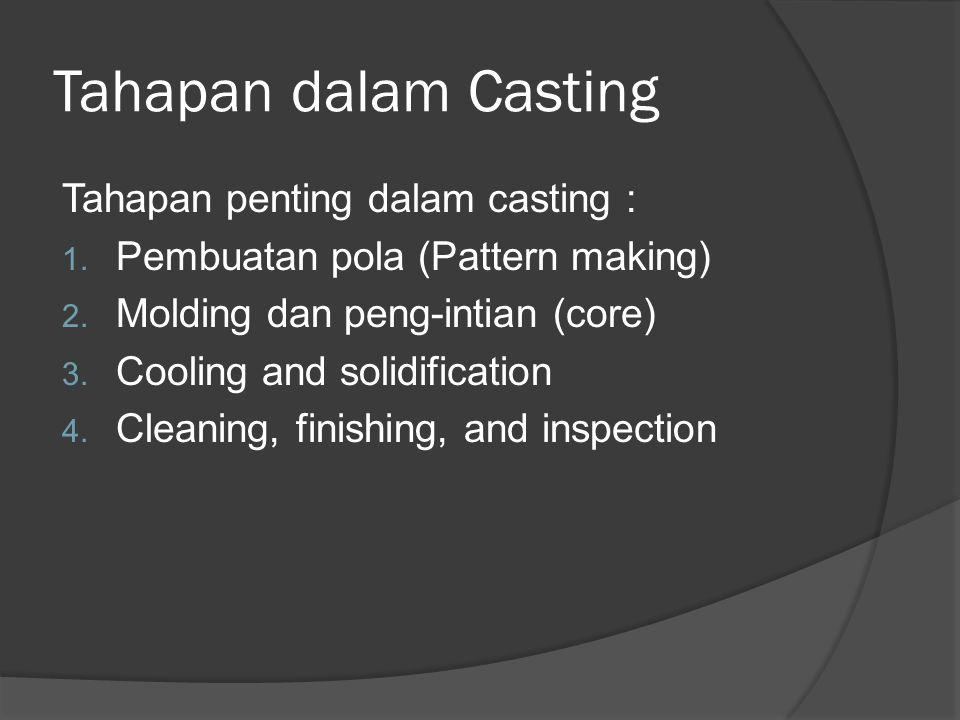 Tahapan dalam Casting Tahapan penting dalam casting : 1.