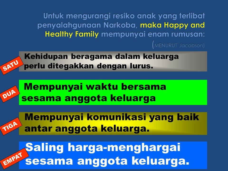 Hubungan antara orangtua dan anak tidak baik ( poor parent-child relationship). Suasana rumahtangga yang tegang (high tention) Suasana rumahtangga tan