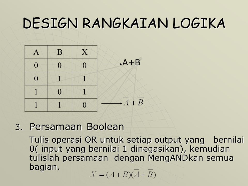 DESIGN RANGKAIAN LOGIKA 4.