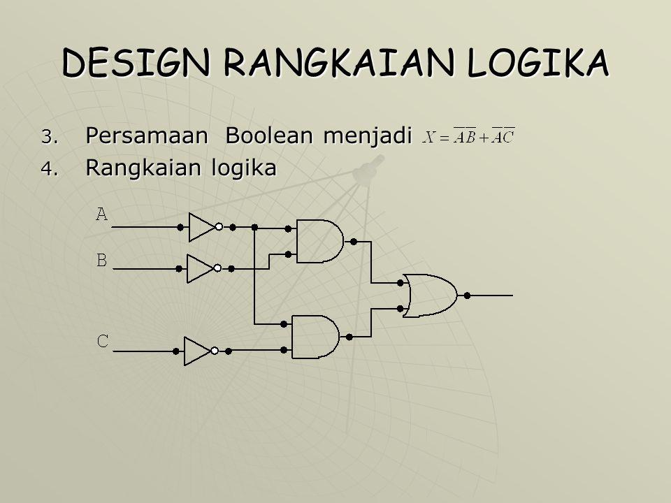 DESIGN RANGKAIAN LOGIKA  Aplikasi Desain Sistem Langkah – langkah yang harus dilakukan untuk membuat rangkaian logika adalah sebagai berikut: 1.