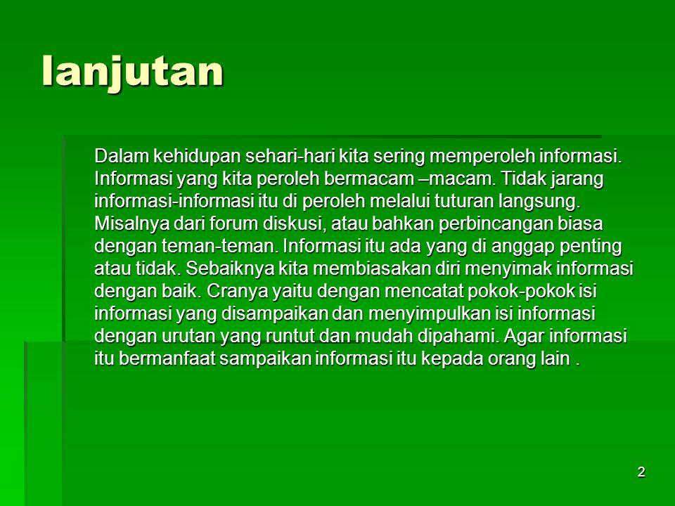 By : zaenuri, S.P.d.I Informasi .