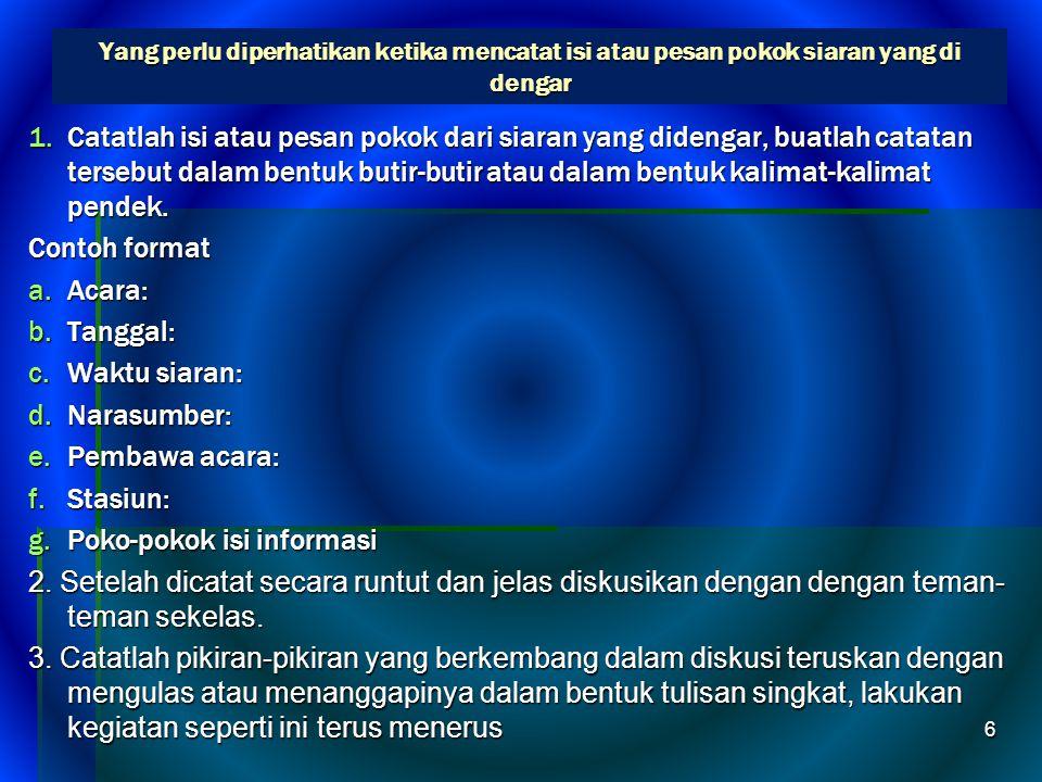 Pesan pokok berita SSSSebuah berita disamping memuat informasi juga terdapat pesan pokok.