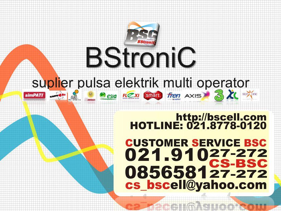 BStroniC BStroniC suplier pulsa elektrik multi operator