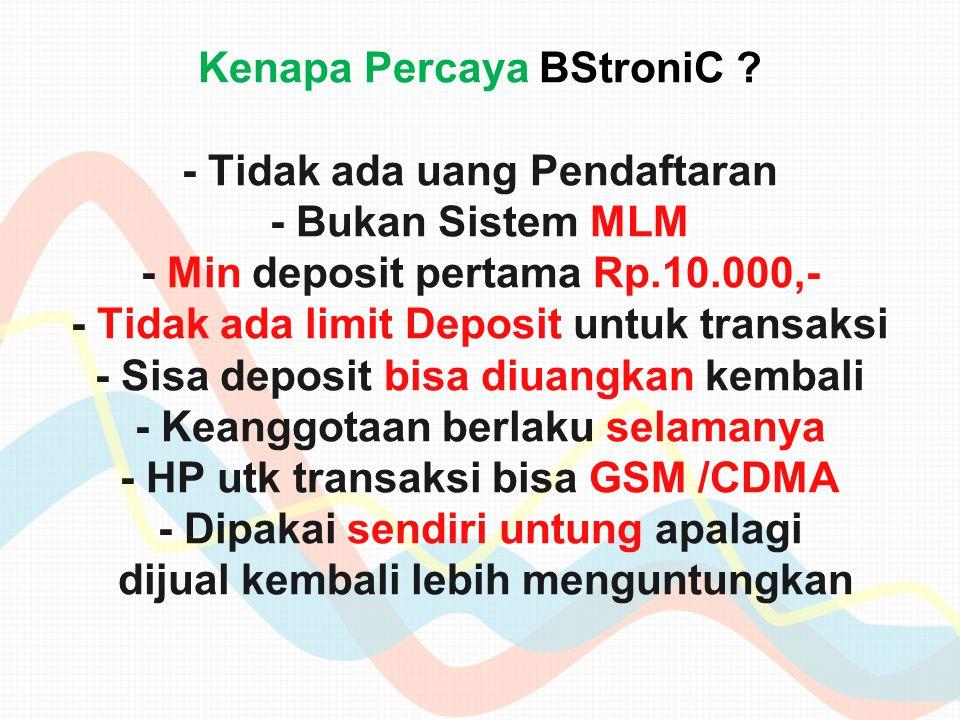 Kenapa Percaya BStroniC .