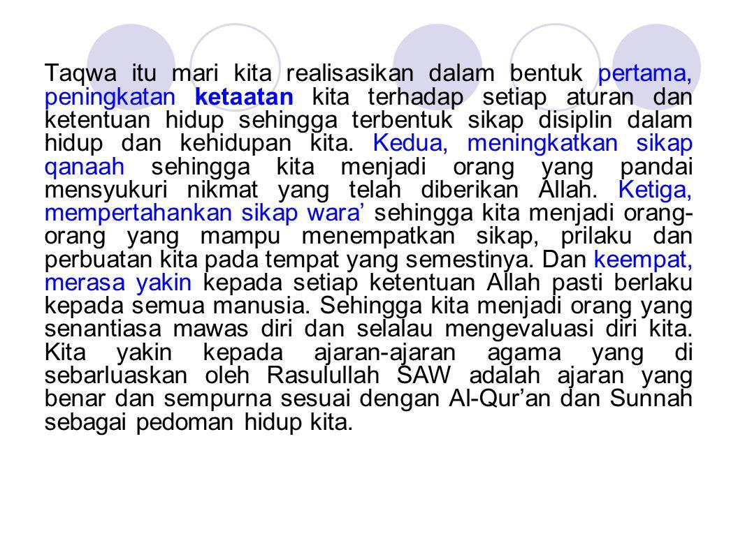 الله اكبر الله اكبر الله اكبر ولله الحمد Kaum muslimin Rahimakumullah, Inilah yang dapat saya sampaikan dalam sambutan ini.
