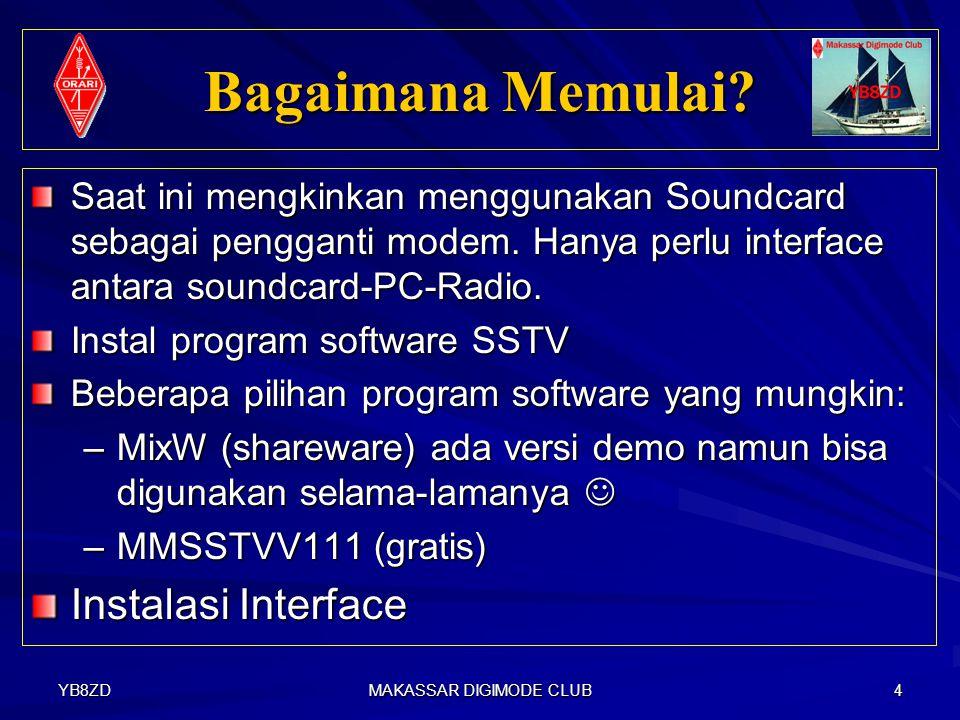 YB8ZD MAKASSAR DIGIMODE CLUB 3 SSTV Amateur Radio.