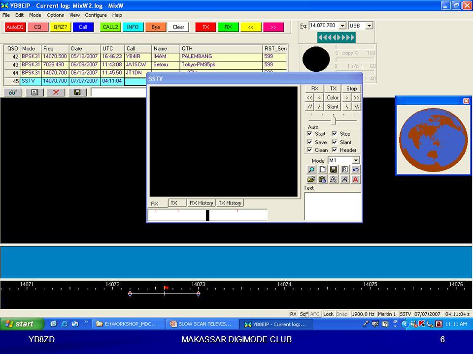 YB8ZD MAKASSAR DIGIMODE CLUB 5 Tahap-1 Install program MMSSTV atau bisa juga menggunakan Program MixW.