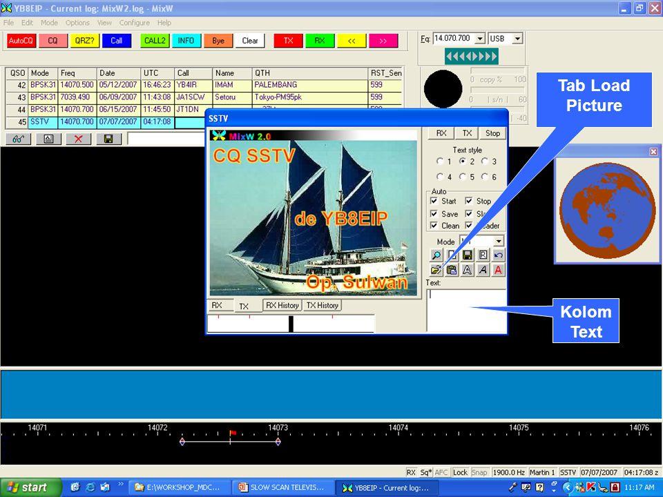 YB8ZD MAKASSAR DIGIMODE CLUB 8 Kolom Text Tab Load Picture