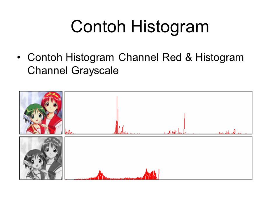 Contoh Histogram Contoh Histogram Channel Red & Histogram Channel Grayscale