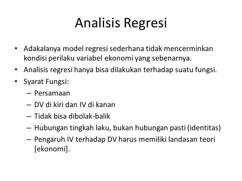 Analisis Regresi Berganda & Pengujian Asumsi OLS Aloysius Deno Hervino adhervino@gmail.com