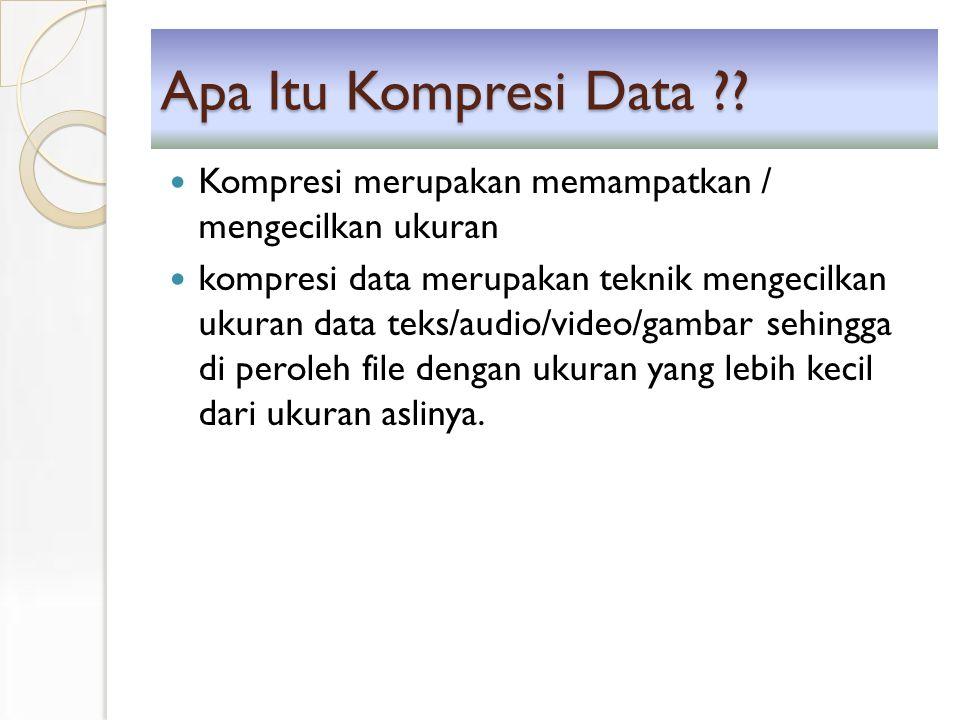Apa Itu Kompresi Data ?.