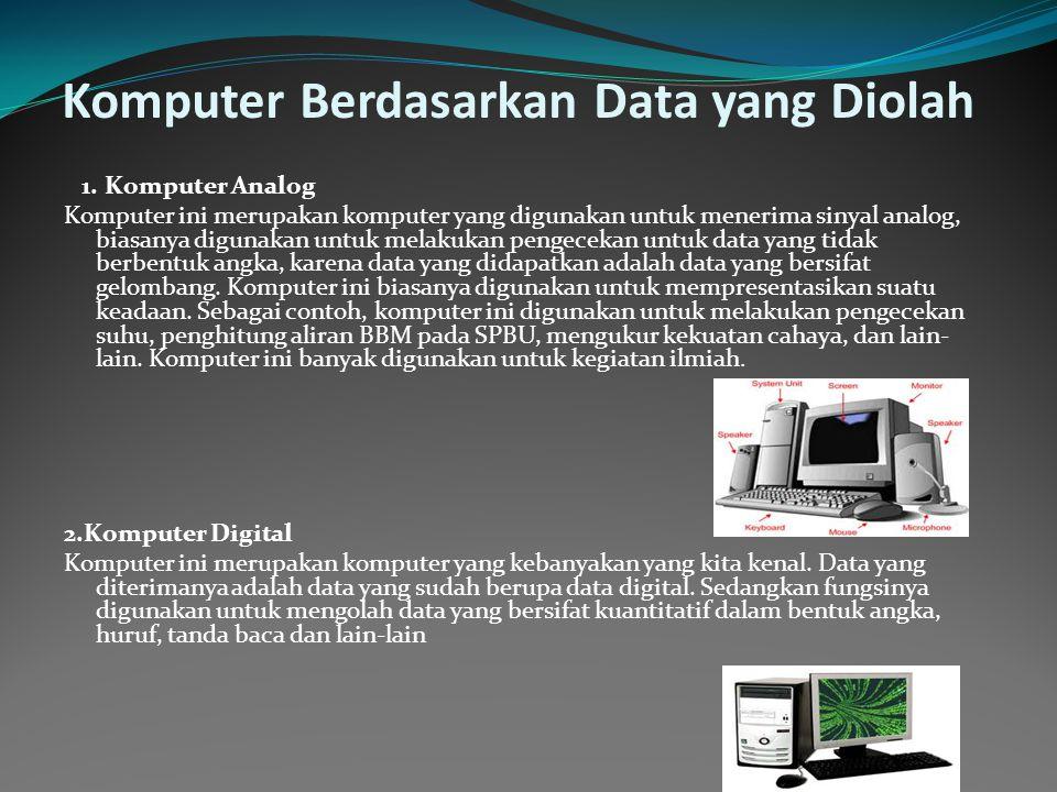 Komputer Berdasarkan Data yang Diolah 1.