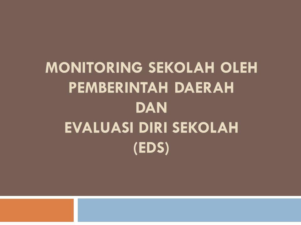 MONITORING SEKOLAH OLEH PEMBERINTAH DAERAH DAN EVALUASI DIRI SEKOLAH (EDS)