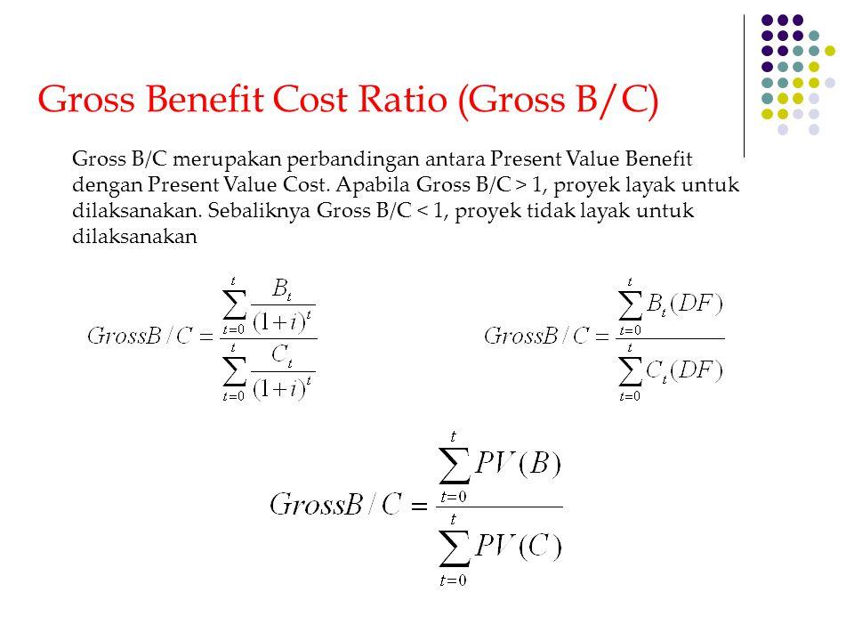 Internal Rate of Return (IRR) Tujuan perhitungan IRR adalah untuk mengetahui persentase keuntungan dari suatu proyek tiap-tiap tahun.