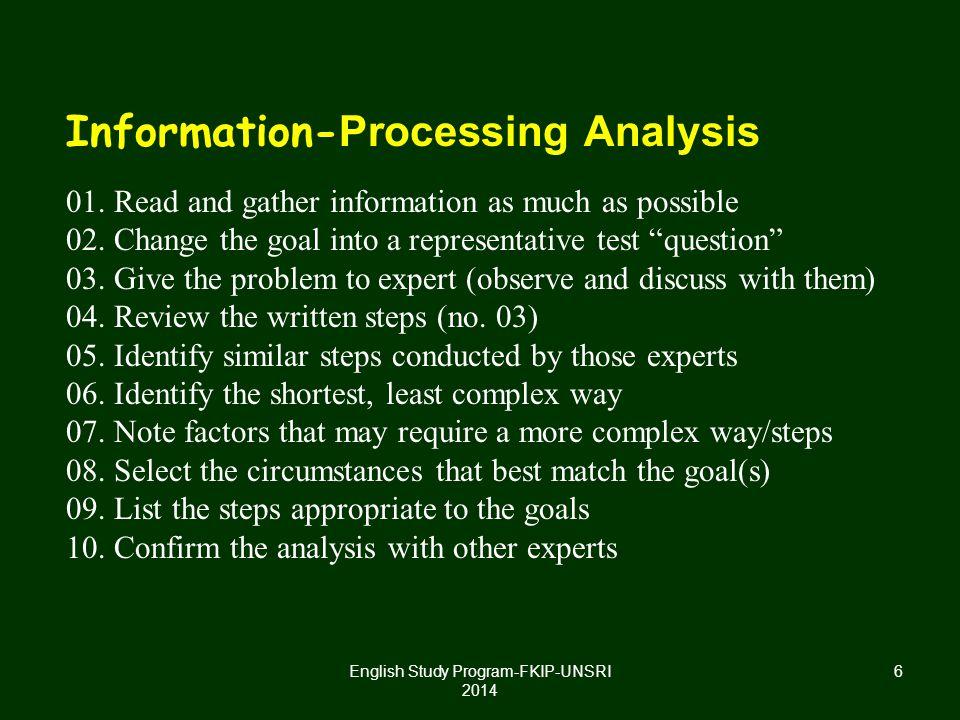 II. ASSESSING LEARNING FROM INSTRUCTION English Study Program-FKIP-UNSRI 2014 7