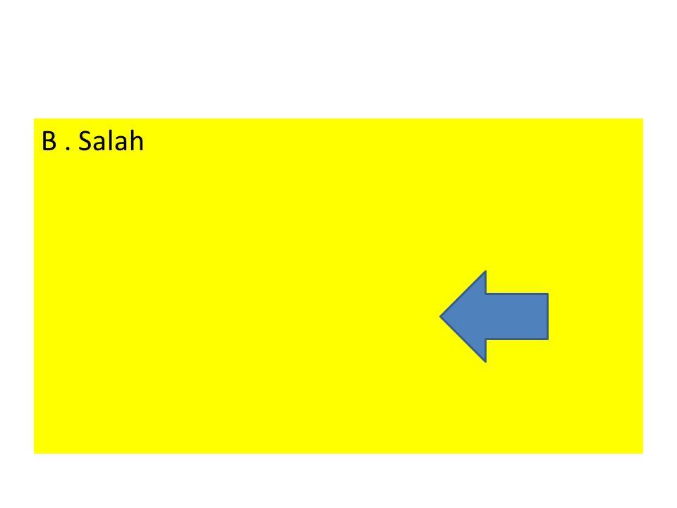 B. Salah