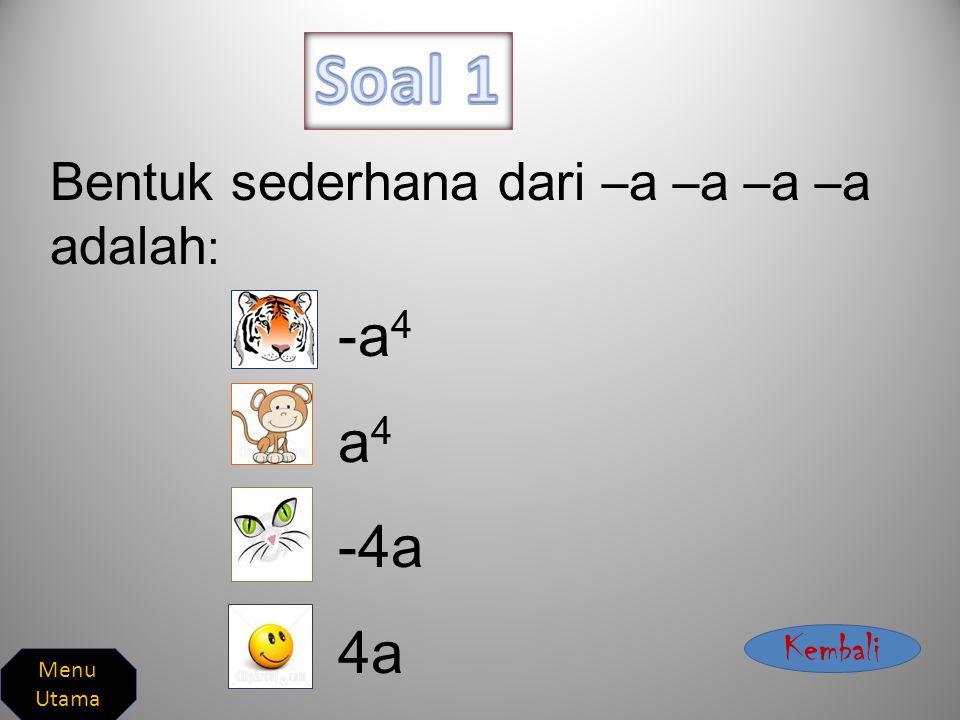 Soal 1 Work Harder Exercises Soal 2 Soal 3 Soal 4 Soal 5 Jawaban 1 Jawaban 2 Jawaban 4 Jawaban 3 Jawaban 5 Menu Utama