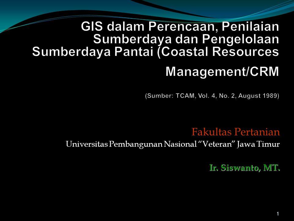 "Fakultas Pertanian Universitas Pembangunan Nasional ""Veteran"" Jawa Timur Ir. Siswanto, MT. 1"