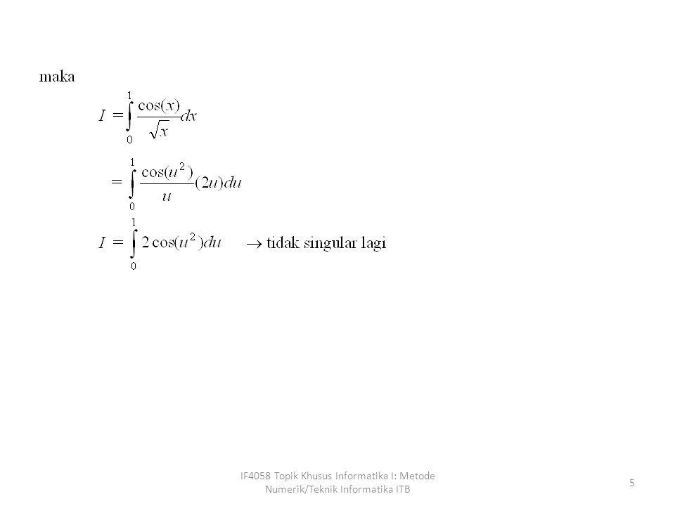 IF4058 Topik Khusus Informatika I: Metode Numerik/Teknik Informatika ITB 26