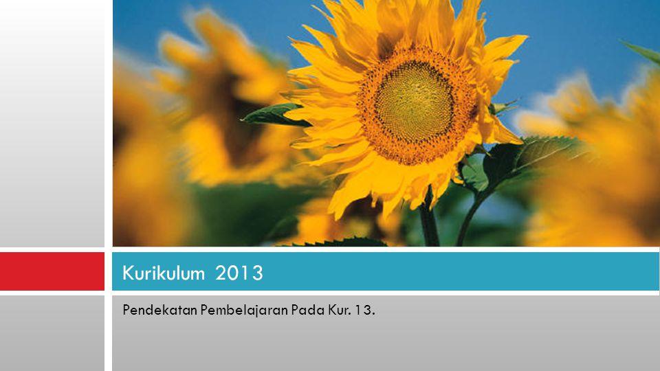Pendekatan Pembelajaran Pada Kur. 13. Kurikulum 2013