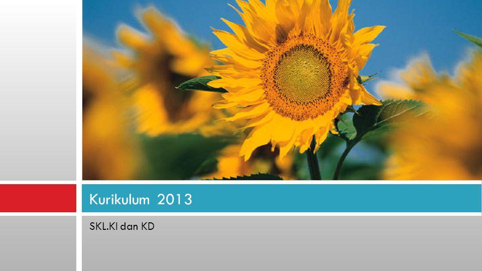 SKL.KI dan KD Kurikulum 2013