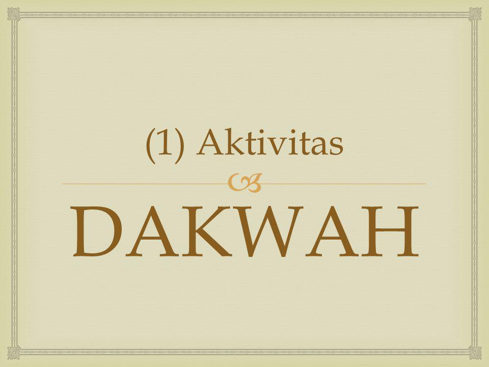  (1) Aktivitas DAKWAH