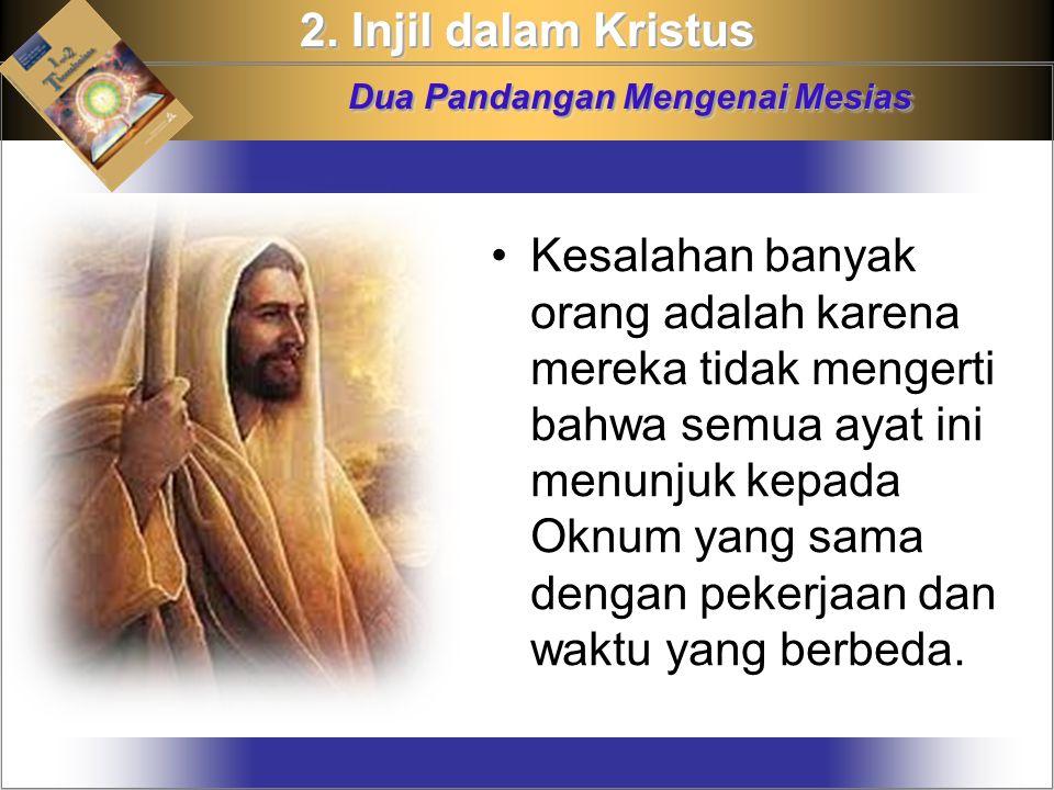 Kesalahan banyak orang adalah karena mereka tidak mengerti bahwa semua ayat ini menunjuk kepada Oknum yang sama dengan pekerjaan dan waktu yang berbeda.