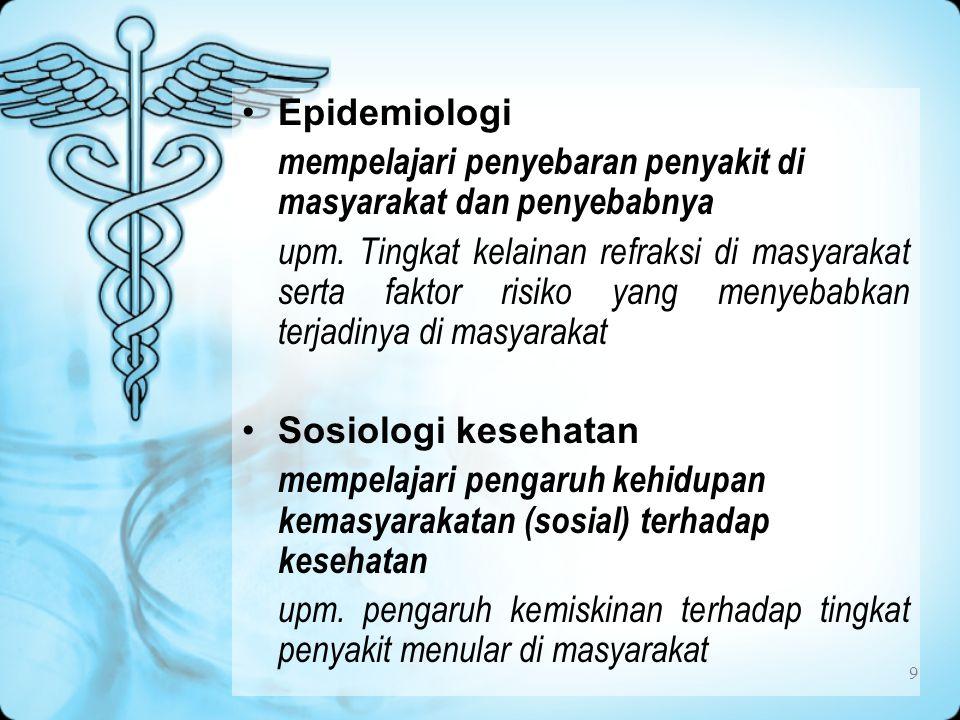 9 Epidemiologi mempelajari penyebaran penyakit di masyarakat dan penyebabnya upm.