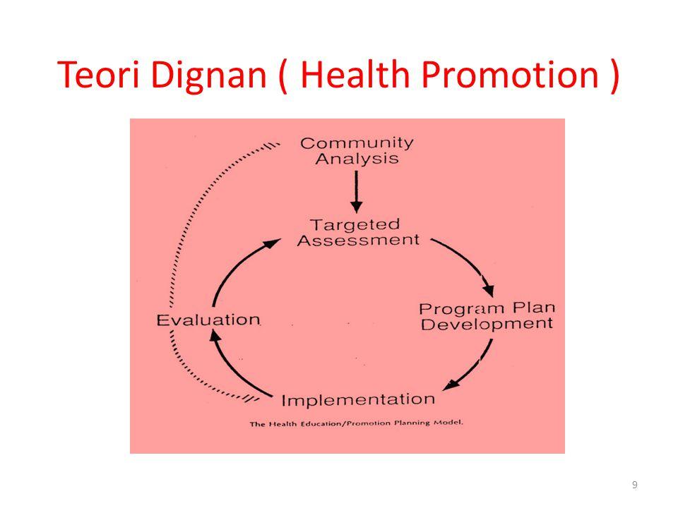 Teori Dignan ( Health Promotion ) 9