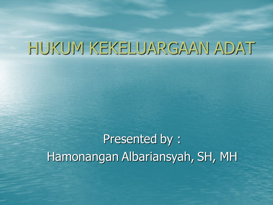 Mid Semester, 24 November 2009 1.Jelaskan ciri masyarakat hukum adat menurut Ter Haar...