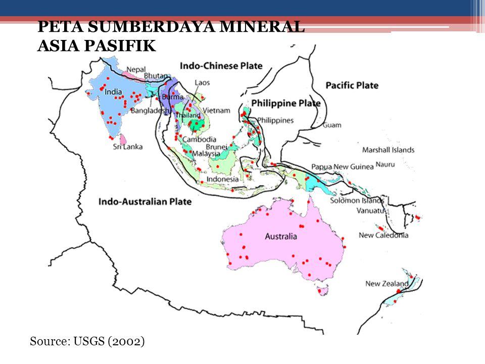 Source: USGS (2002) PETA SUMBERDAYA MINERAL ASIA PASIFIK
