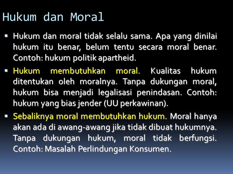 Etiket Vs Moral  Hanya menilai cara bertindak  Hanya berlaku dalam pergaulan (ketika ada orang lain)  Sangat relatif, tergantung budaya  Menilai s