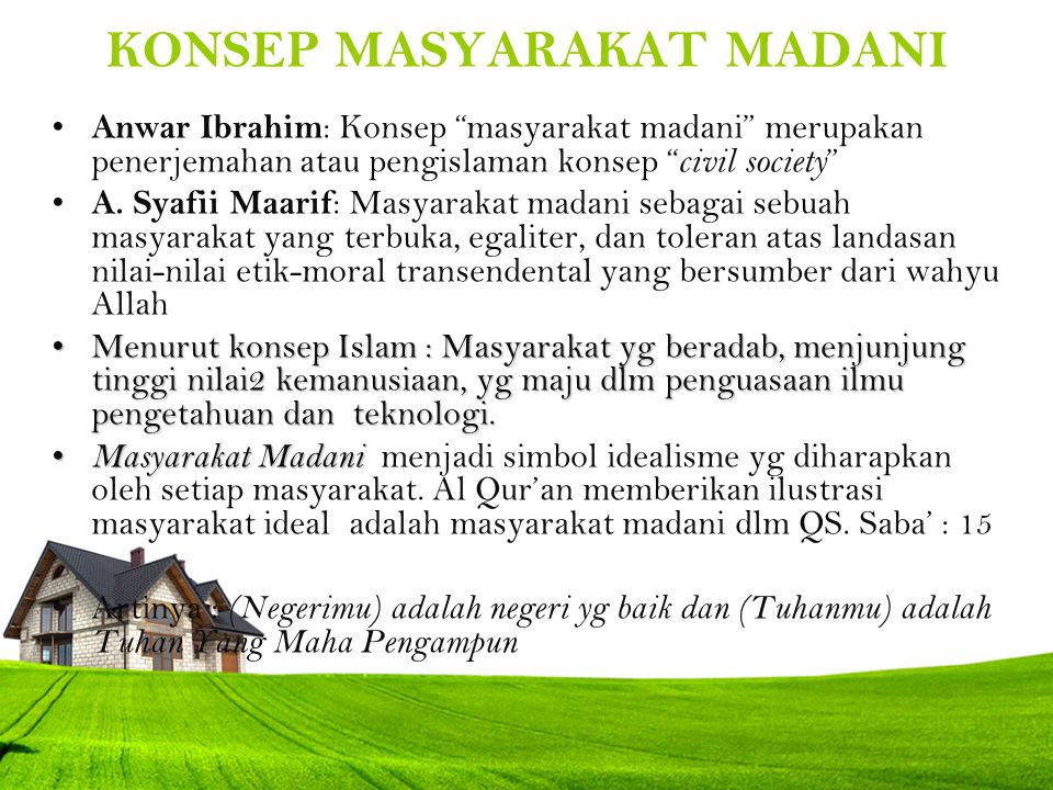 Firman Allah tentang masyarakat madani dalam QS Saba' : 15