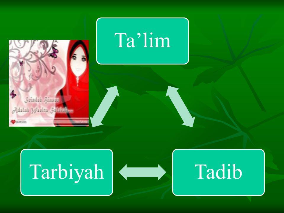 Langkah & Upaya Membina Insan ber-Akhlaqul Karimah Ta'limTarbiyahTa'dib َتعلِيمتَربِـيَةتَأدِيب