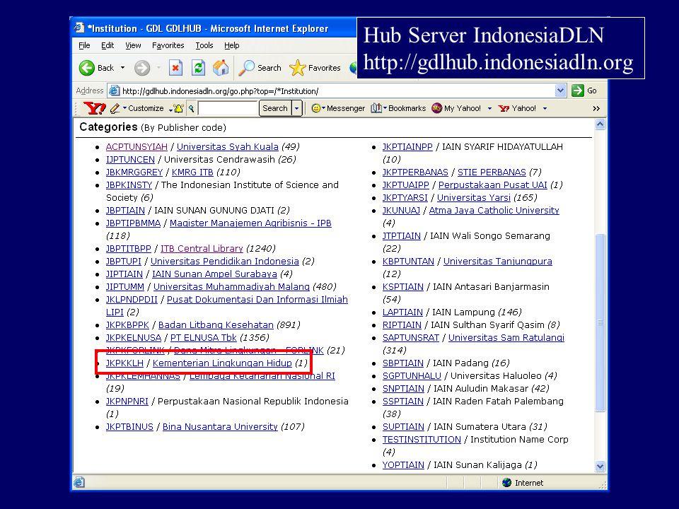 Spesifikasi Teknis Sistem Operasi: LINUX RED HAT 7.3 Aplikasi: Ganesha Digital Library (GDL) versi 3.1 IsisOnline (khusus untuk online CDS/ISIS database) Client: web browser (IE, Netscape)