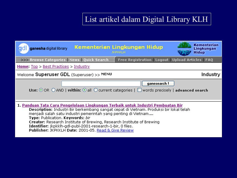 Desain Web Digital Library KLH
