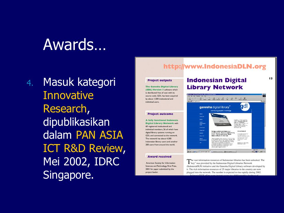 Awards… 4.