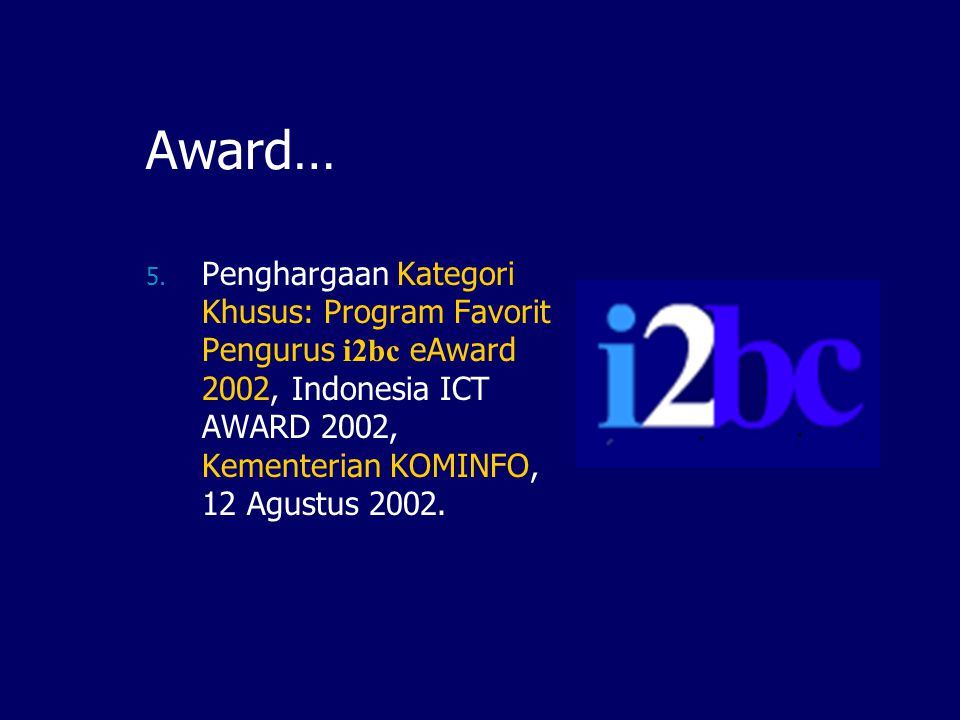 Award… 5.