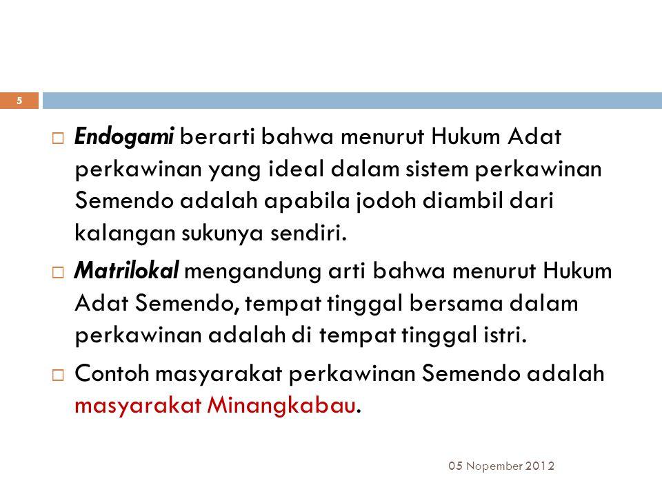 05 Nopember 2012 16